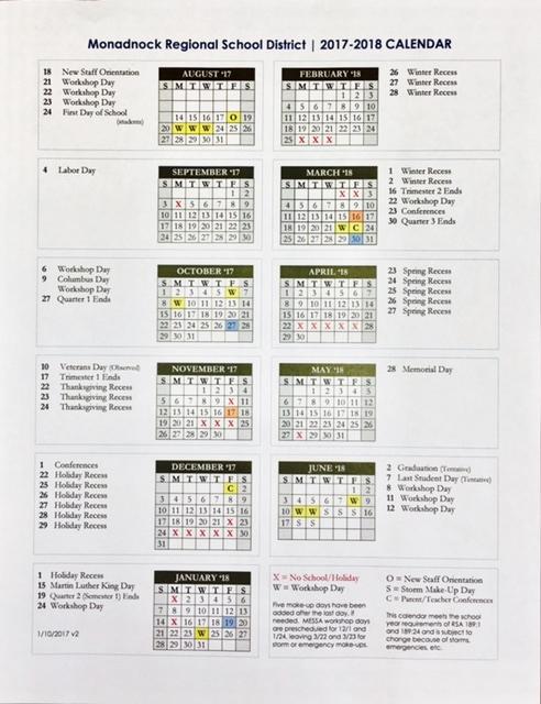 17 18 mrsd calendar